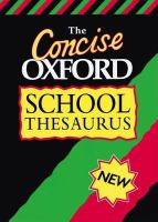 The Concise Oxford School Thesaurus