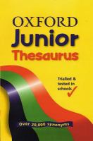 The Oxford Junior Thesaurus