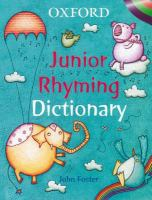 Oxford Junior Rhyming Dictionary