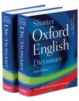 Shorter Oxford English Dictionary on Historical Principles