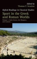 Sport in the Greek and Roman Worlds