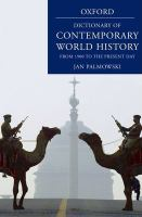 A Dictionary Of Contemporary World History