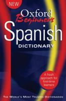Oxford Beginner's Spanish Dictionary