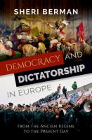 Democracy and Dictatorship in Europe