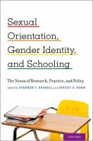 Sexual Orientation, Gender Identity, and Schooling