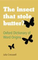 The Insect That Stole Butter?