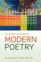 The Oxford Companion to Modern Poetry