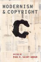 Image: Modernism and Copyright
