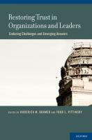 Restoring Trust in Organizations