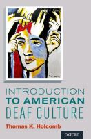 Introduction to American Deaf Culture