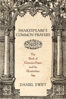 Shakespeare's Common Prayers