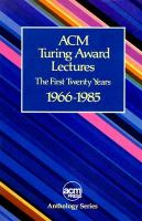 ACM Turing Award Lectures