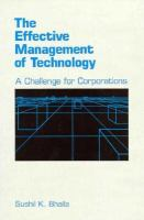 The Effective Management of Technology