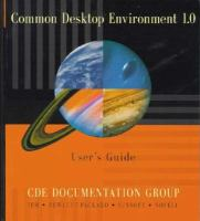 Common Desktop Environment 1.0