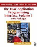 The Java Application Programming Interface