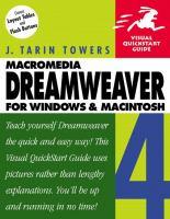 Dreamweaver 4 For Windows And Macintosh