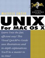 Unix for Mac OS X