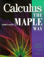 Calculus the Maple Way