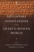 Voluntary Associations in the Graeco-Roman World