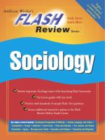 Flash Review for Sociology