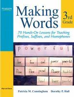Making Words Third Grade