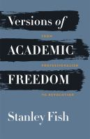 Versions of Academic Freedom