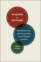 In Defense of Disciplines