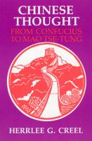 Chinese Thought, From Confucius to Mao Tsê-tung