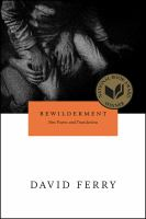 Bewilderment: New Poems and Translations