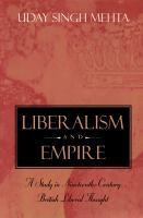 Liberalism and Empire