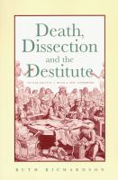 Death, Dissection, and the Destitute