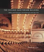 The Chicago Auditorium Building