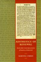 Aesthetics of Renewal