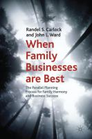 When Family Businesses Are Best