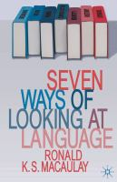 Seven Ways of Looking at Language
