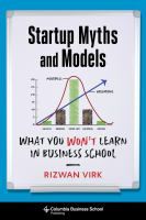 Startup Myths and Models