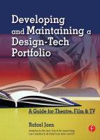 Developing and Maintaining A Design-tech Portfolio