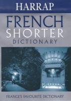 Harrap's Shorter Dictionary, English-French, French-English