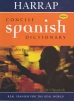 Harrap Concise Spanish Dictionary