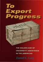 To Export Progress