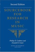 Sourcebook for Research in Music (2nd Edition)