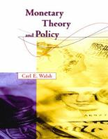 Monetary Theory and Policy