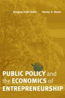 Public Policy and the Economics of Entrepreneurship