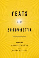 Yeats and Afterwords