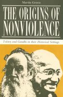 The Origins of Nonviolence