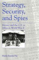Strategy, Security, and Spies
