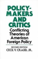 Policy-makers and Critics