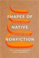 Shapes of Native Nonfiction
