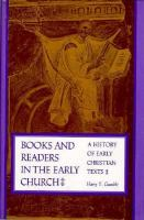 Books And Readers In The Early Church