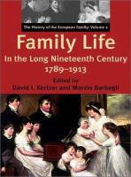 Family Life in the Long Nineteenth Century, 1789-1913